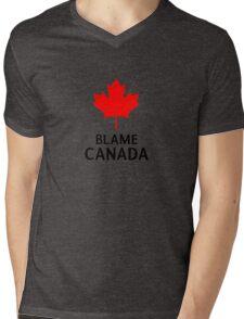 Blame Canada South Park Bigger Longer And Uncut Funny Quote Mens V-Neck T-Shirt