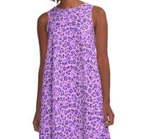 Vintage Flowers Lavender Purple A-Line Dress