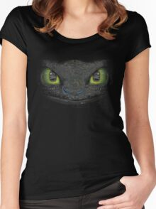 toothless how to train your dragon Women's Fitted Scoop T-Shirt