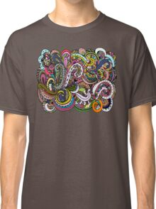 Abstract hand drawn ornament, background Classic T-Shirt