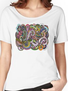 Abstract hand drawn ornament, background Women's Relaxed Fit T-Shirt