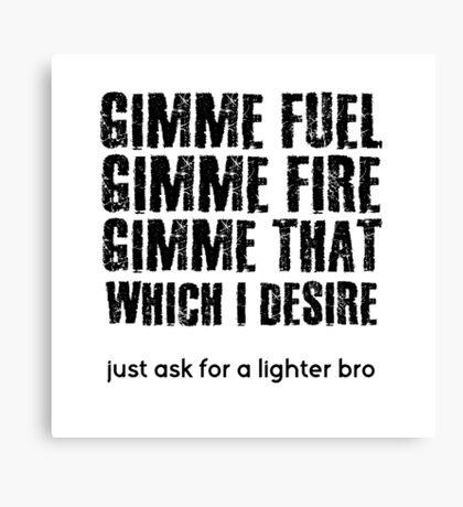 Fuel Metallica Funny Joke Humor Pun Canvas Print