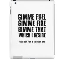 Fuel Metallica Funny Joke Humor Pun iPad Case/Skin
