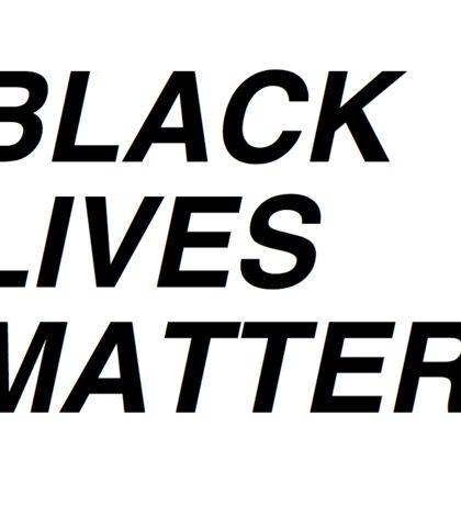 Simple Message: Black Lives Matter Sticker