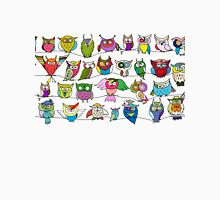 Funny birds, seamless pattern Women's Fitted V-Neck T-Shirt