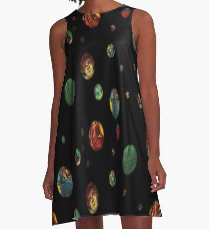 Futurist Planets A-Line Dress