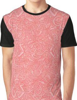 Vintage Triskle Celtic Trinity Knot Coral Peach Graphic T-Shirt