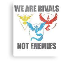 Rivals, not enemies Canvas Print