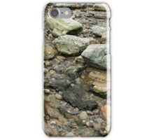 Beach rocks and water iPhone Case/Skin