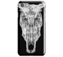 X-ray of a skull of a cow on black background  iPhone Case/Skin