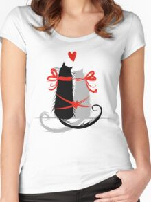 Couple of cats in love. Women's Fitted Scoop T-Shirt