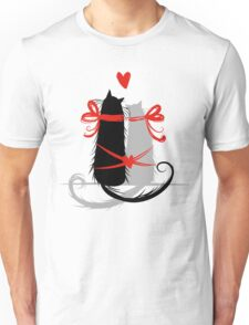 Couple of cats in love. Unisex T-Shirt