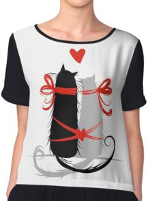 Couple of cats in love. Chiffon Top