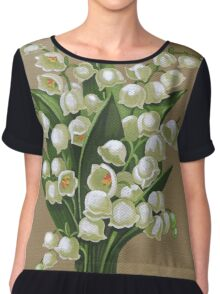 Lilies of the valley - acrylic painting Chiffon Top