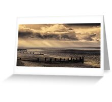 Early morning and the tide is out on the Solent Greeting Card
