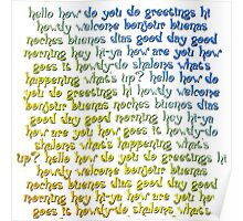 Greetings Typography Art Poster