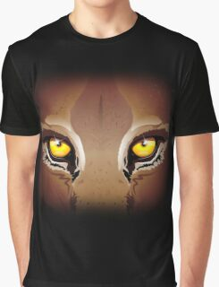 Mountain Lion's Eyes Graphic T-Shirt