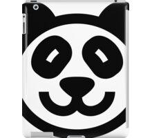 Cute Panda Icon - black on white iPad Case/Skin