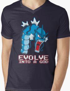 Evolve into a GOD Mens V-Neck T-Shirt