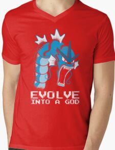 Evolve into a GOD Mens V-Neck T-Shirt