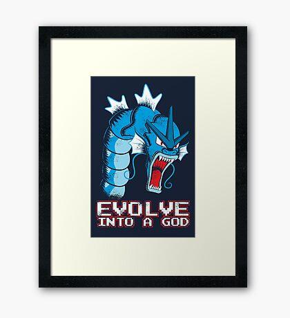 Evolve into a GOD Framed Print