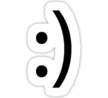 Simplistic Smile Sticker