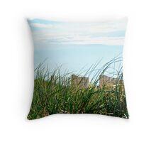 Plum Island Seagrass Throw Pillow