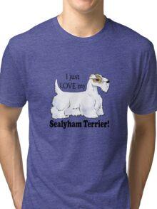 I Love My Sealyham! (Lemon-and-White)  Tri-blend T-Shirt
