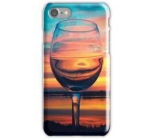 Sunset in a Glass iPhone Case/Skin