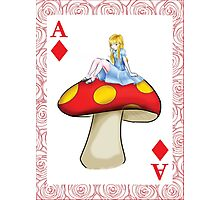Alice's Playing Card in Wonderland Photographic Print