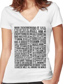 Game Grumps Quotes Women's Fitted V-Neck T-Shirt