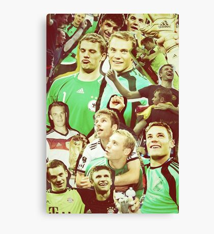 Neuer and Muller - German Football Canvas Print