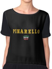 Pinarello Vintage Racing Bicycles Italy Chiffon Top