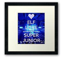 Super Junior - ELF Framed Print