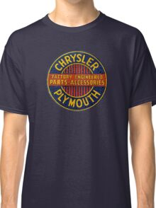 Chrysler Plymouth Vintage Sign Classic T-Shirt