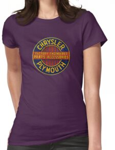 Chrysler Plymouth Vintage Sign Womens Fitted T-Shirt