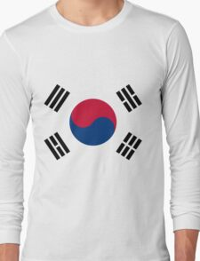 Living Korea Flag Long Sleeve T-Shirt