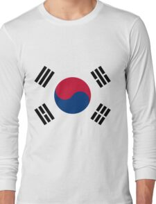 Living Korea Flag Long Sleeve T-Shirt