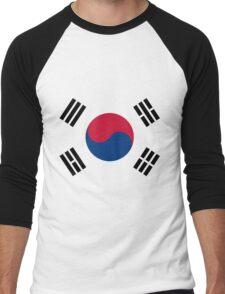 Living Korea Flag Men's Baseball ¾ T-Shirt