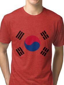 Living Korea Flag Tri-blend T-Shirt