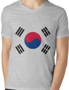 Living Korea Flag Mens V-Neck T-Shirt