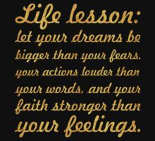 Life lessions... Inspirational Quote One Piece - Short Sleeve