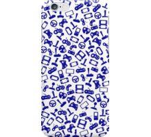 Blue game controllers iPhone Case/Skin