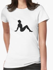 Mudflap Man Womens Fitted T-Shirt