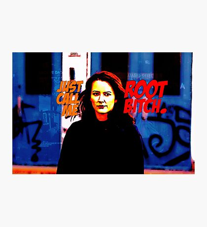 Her name is Root. Photographic Print
