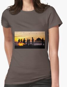 Bonfire on the Beach Womens Fitted T-Shirt