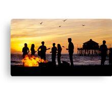 Bonfire on the Beach Canvas Print