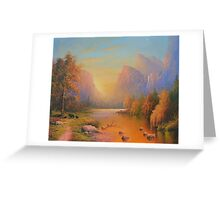 Three Bears Yosemite Greeting Card