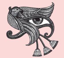 Eye of Horus (Tattoo Style Tee) One Piece - Long Sleeve