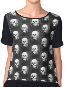 All Is Vanity: Halloween Life, Death, and Existence Chiffon Top